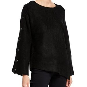Rachel Roy Adley Button-Sleeve Sweater FREE SHIP